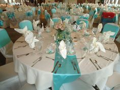Turquoise table settings & Pink and turquoise table setting. | Pink u0026 Turquoise Baby Shower ...