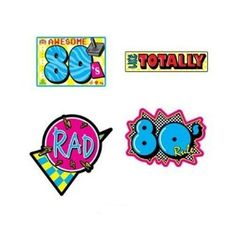 Awesome 80's Cutouts 16 in. 4/Pkg, Pkg/12