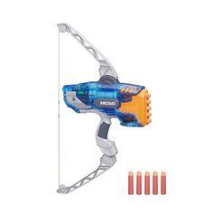 ¡Practica tu puntería con el Sonic Ice Thunderbow de Nerf! ¡Los dardos ¡pueden llegar hasta los 24 metros!