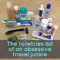 Wondering what to bring on a trip around the world? Here's a travel toiletries list that'll handle just about every adventure that comes your way.