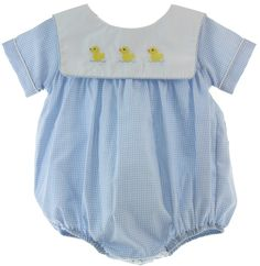 Hiccups Childrens Boutique - Baby Boys Blue Gingham Bubble Outfit with Ducks | Anavini, $46.00 (https://www.hiccupschildrensboutique.com/baby-boys-blue-gingham-bubble-outfit-with-ducks-anavini/)