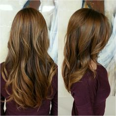 All Over Color, Sunkiss Highlights, Glaze, Shattered Layers, Crown Volume, Face Frame, Blowout