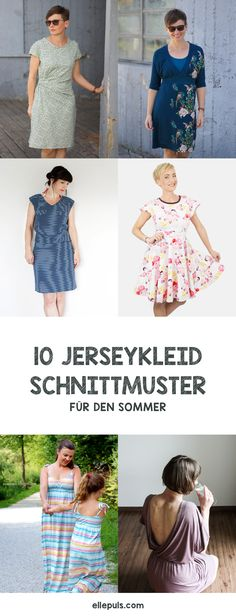 Elke von ellepuls zeigt euch 10 Jerseykleider mit entsprechender Stoffberatung, auch unser Kleid Martha ist mit von der Partie (oben links).