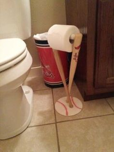 Cardinals. Baseball. Toilet roll holder. Bathroom accessory. by judy