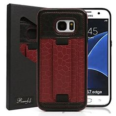 S7 Edge Case,RundA Ultra Slim Professional Genuine Leather Wallet Case with Card Slot and Kickstand for Samsung Galaxy S7 edge (WineRed) https://www.amazon.com/dp/B01GR4OVNE