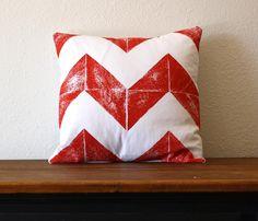 Chevron Printed Pillow.