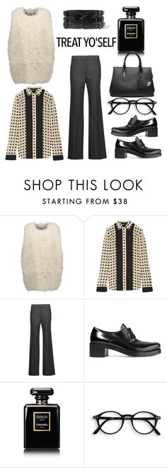 """""""Treat Yourself!"""" by diane-fritz-sager ❤ liked on Polyvore featuring Proenza Schouler, Helmut Lang, Prada, Chanel and Alaïa"""
