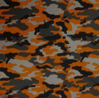 Orange Camouflage Dimple Mesh Poly Stretch Sports Knit Fabric