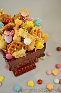 Coconut Almond Chewy Chex Mix Recipe | Motherhood Defined