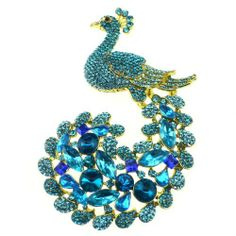 Luxury Peacock Brooch Pin Rhinestone Crystals Suit for Wedding Party (Sky Blue) Hong Ri jewelry,http://www.amazon.com/dp/B00FXO5HTC/ref=cm_sw_r_pi_dp_YRmhtb157SGD6YEF