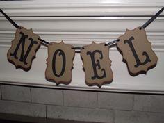 NOEL Christmas Banner, garland, Wall hanging, mantel decoration, merry christmas decor, JOY, Christmas, Happy Holidays, Noel,