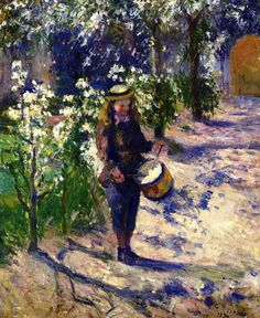 The Athenaeum - PISSARRO, Camille French Pointillist-Impressionist (ca.1830-1903)_Child with Drum - 1877