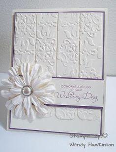 Got Rubber...Will Stamp!: Kristin & Stefan's Wedding Card