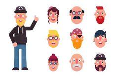Amazing User Avatars Set by maxim.kulikov on @creativemarket