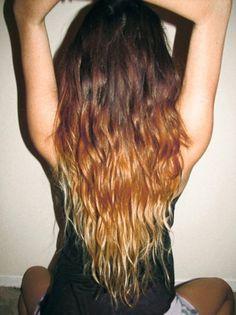 Dip dye brunette/blonde