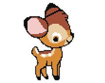 Bambi Cross Stitch Pattern PDF Instant Download Downloadable Beginner Chart Easy Patterns Disney Cross Stitch Disney Cuties Baby Bambi Cutie