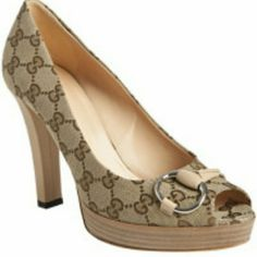 ***REDUCED ***Gucci logo platforms Authentic Gently used Gucci canvas platforms with gold hardware. Gucci  Shoes Platforms