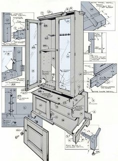 Plans For Gun Cabinets Free Woodworking Plans And Projects Instructions To Build Gun