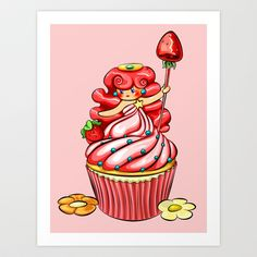 Cupcake Princess Art Print by Michelle Angelica - $15.00 Princess Art, Cupcake, Art Prints, Sewing, Art Impressions, Dressmaking, Couture, Cupcakes, Stitching