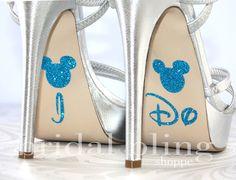 I Do Shoe Stickers For The Disney Bride Glittering Something Blue. $7.99, via Etsy.
