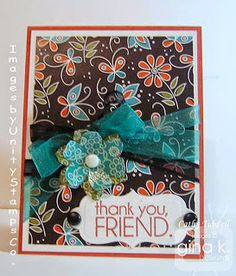 Cat's Creations card created by Cathy Tidwell using the 'Ang and Me' kit from Gina K