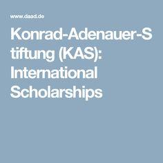 Konrad-Adenauer-Stiftung (KAS): International Scholarships