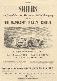 Triumph TR2 Rally success advertisement