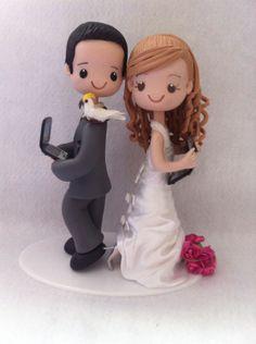 Casal de noivos topo de Bolo