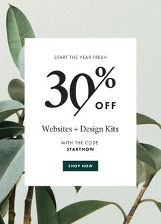 Be intentional with your resolutions this year, invest in design for your creative biz. It's all on sale! Take 30% off our entire shop using coupon code STARTNOW at checkout. Hurry, this offer ends January 3rd at midnight.