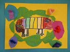 Kinder Chameleons  (http://elementaryartroom.blogspot.com)