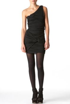 BLACK ONE SHOULDER TIE BOW DRESS BY DRESS UP TOPSHOP