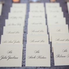 Elegant Escort Cards // Robyn Rachel Photography // Escort Cards: Reva Nathan & Associates // http://www.theknot.com/weddings/album/a-classic-glam-wedding-in-chicago-il-134006