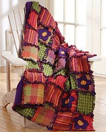 rag quilts of homespun | This is one of the easiest quilts to make!