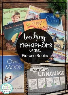 Teaching Fourth: Picture Books for Teaching Metaphors Student Teaching, Teaching Reading, Teaching Ideas, 6th Grade Reading, Powerpoint Lesson, Fourth Grade, Third Grade, Independent Reading, Teaching Language Arts