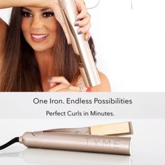 Straighten, curl + create ANY style in minutes with NEW TYME Iron Pro!