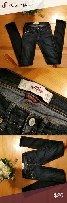 $4.99 shipping (next hour only) Hollister Jeans LIKE NEW condition, long supper skinny jeans Hollister Jeans Skinny