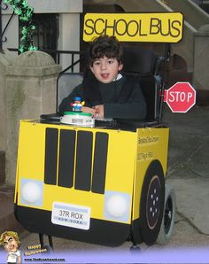 school bus halloween costume for wheel chair | ... Funny Pictures and Funny Videos: 12 Best Halloween Wheelchair Costumes
