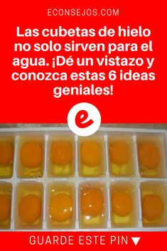 Cubetas de hielo   Las cubetas de hielo no solo sirven para el agua. ¡Dé un vistazo y conozca estas 6 ideas geniales!   ¡Buenísima idea!
