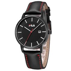 Fila High Quality Luxury Top Brand Fashion Casual Auto Date Leather Strap Men Watch Women Watch Quartz Wristwatch 38-793/794
