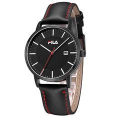 Fila High Quality Luxury Top Brand Fashion Casual Auto Date Leather Strap Men Watch Women Watch Quartz Wristwatch 38-793/794