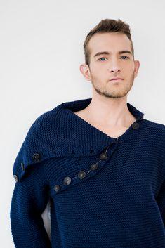 handmade unique 100% wool men's sweater front detail Ethical Fashion Brands, Bud, Etsy Seller, Men Sweater, The Unit, Detail, Wool, Unique, Sweaters
