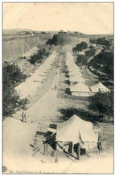 British camp in Candia (now Iraklion) Heraklion, National Archives, Crete, The Past, British, Camping, Island, Block Island, Islands