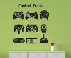 Video+Game+Controllers+Vinyl+Wall+Decal+Teen+Room+by+IceCreamVinyl,+$15.00