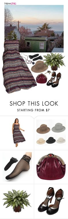 """""""Neighborhood // Newchic"""" by lsaroskyl ❤ liked on Polyvore featuring Judith Leiber, Marc by Marc Jacobs and Avon"""
