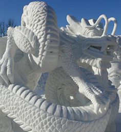Winner of snow sculpture contest, Sapporo Snow Festival, Leaping Dragon from Hong Kong Snow Sculptures, Sculpture Art, Winter Art, Winter Snow, Ice Art, Dragon Art, Ice Dragon, Snow Art, Sapporo
