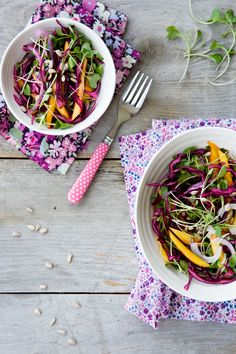 Red Cabbage & Mango Slaw   Tartine and Apron Strings