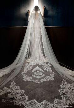 galia lahav spring 2018 long cathedral veil (esther) mv -- Galia Lahav Spring 2018 Wedding Dresses
