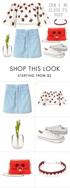 """Can I be close to you? 🌷"" by helloume ❤ liked on Polyvore featuring Gap, House of Holland, Converse, J.W. Anderson and Simons"