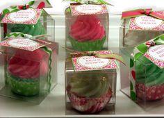 15 Custom Mini Bath Cuppies Soap Cupcake Bath Bomb Fizz Fizzy Fizzie Spa Party Shower Favors. $60.00, via Etsy.