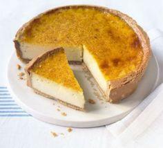 Custard tart with nutmeg pastry